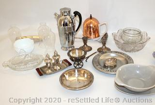 Russell Wright Pottery, Wilton, Sterling Weighted, Crystal and More