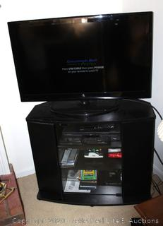 TV with Stand and DVD Players