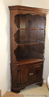 Vintage Corner Cabinet