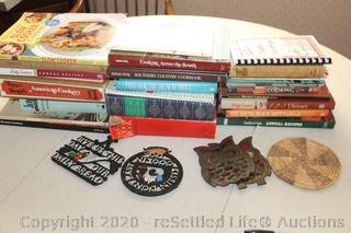 Vintage Cookbooks and Trivets