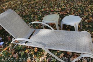 Chaise Lounge Chair and Side Tables
