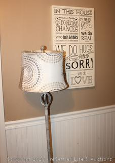 Floor Lamp and Wall Art