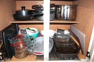 Variety of Pots and Pans and Bake Ware