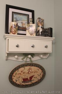 Bathroom Decor- Shelf Not Included