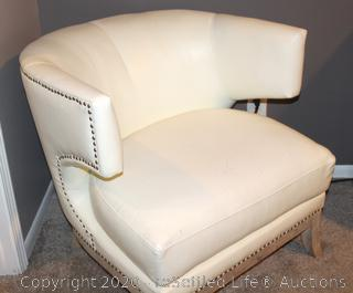 American Signature Barrel Leather Chair