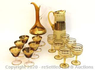Vintage Pitchers and Aperitif Glasses