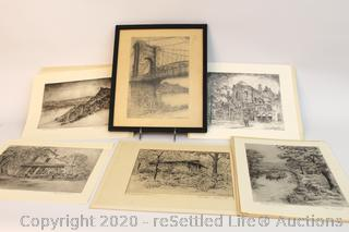 Caroline Williams Collection: Four Signed Prints and Two Unsigned