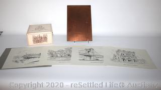 Caroline Williams Printing Plates and Collectible Glasses