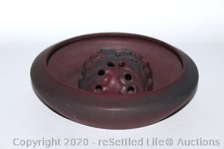 Vintage Van Briggle Arranger Bowl