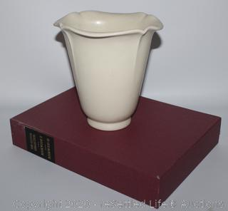 Rookwood Fluted Edge Vase and Collector's Books