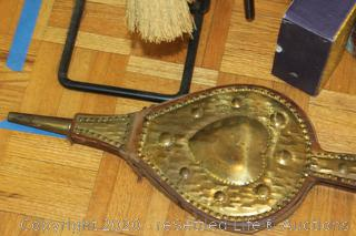 Fireplace Tools and Vintage Bellow