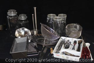 Canisters, Uensils, Strainers, Skewers and More