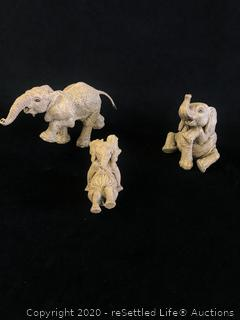 Martha Carey The Heard Elephant Figurine