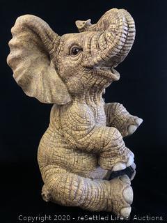 Large Elephant Figurine