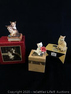 Variety of Collectible Cat Figurines
