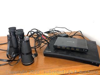 Tasso Binoculars and Samsung Blu Ray Player