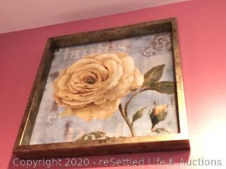 Trio of Floral Wall Décor