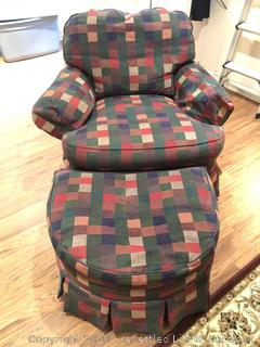Side Chair with Ottoman