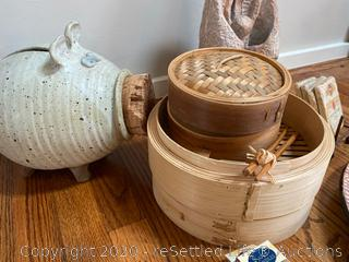 Bamboo Rice Steamer and More