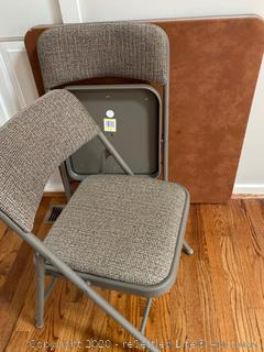 Card Table with Two Folding Chairs