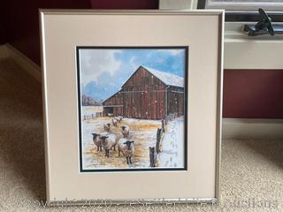 Ann E. Geis and J. Heath Framed Limited Edition Artwork