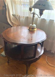 Vintage Side Table and Lamp