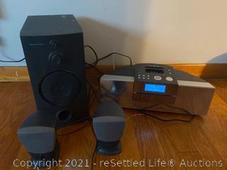 Harman/Kardon Speakers and Philips Radio/Mo3 player
