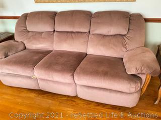 La-Z-Boy Mauve Reclining Sofa