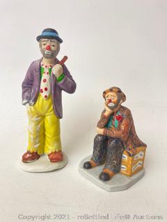 Emmett Kelly Clown Figurines