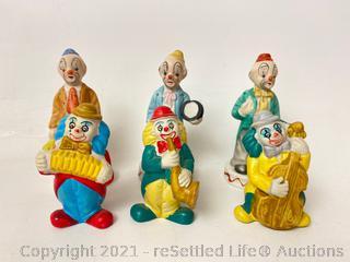 Variety of Clown Figurines