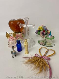 Music Box, Coalport Floral Figurine and More