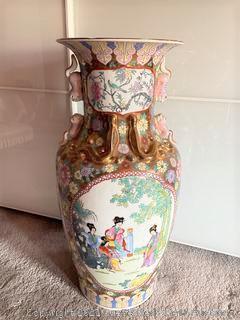 Asian Oversized Vase
