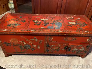 Jinling Beijing Gold Inlaid Lacquer Furniture Company Table