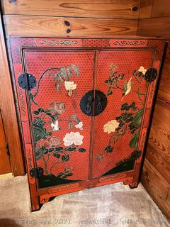 Jinling Beijing Gold Inlaid Lacquer Furniture Company Storage Cabinet