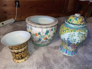 Planter, Vase and Ginger Jar