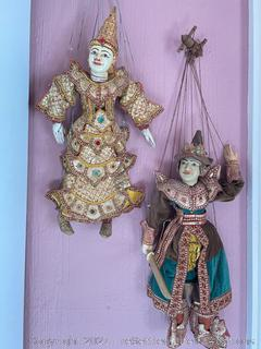 Pair of Asian Marionette Puppets