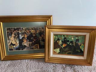 Henri de Toulouse & Renoir Framed Prints