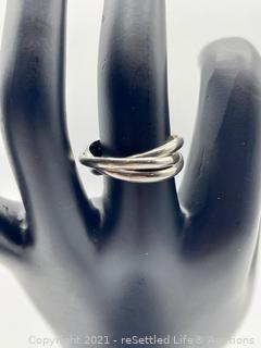 Sterling Silver Triple Ring
