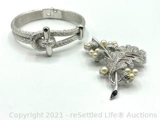 Trifari Bracelet and Brooch