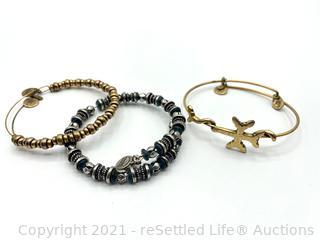 Trio of Alex and Ani Bracelets