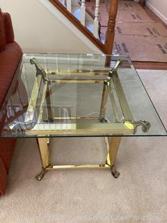 Brass Decorative End Table
