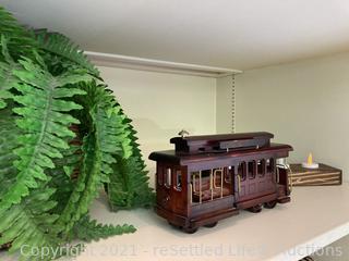 Music Box Train and Decor