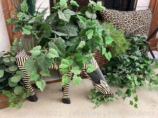 Florals and Wood Zebra
