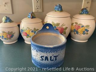 Canister Set and Salt Crock