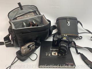 Nikon and Pentax Cameras and Vintage Binoculars