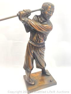 Bronze Golfer Fireplace Tools
