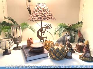Table Lamp, Figurines and More