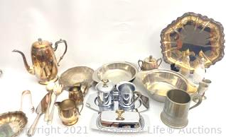 Silver Plated and Pewter Serveware