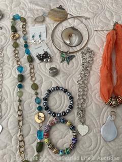 Costume Jewelry and Organizer