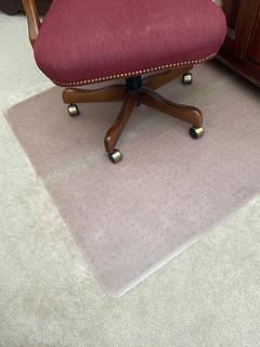 Office Chair and Plastic Mat